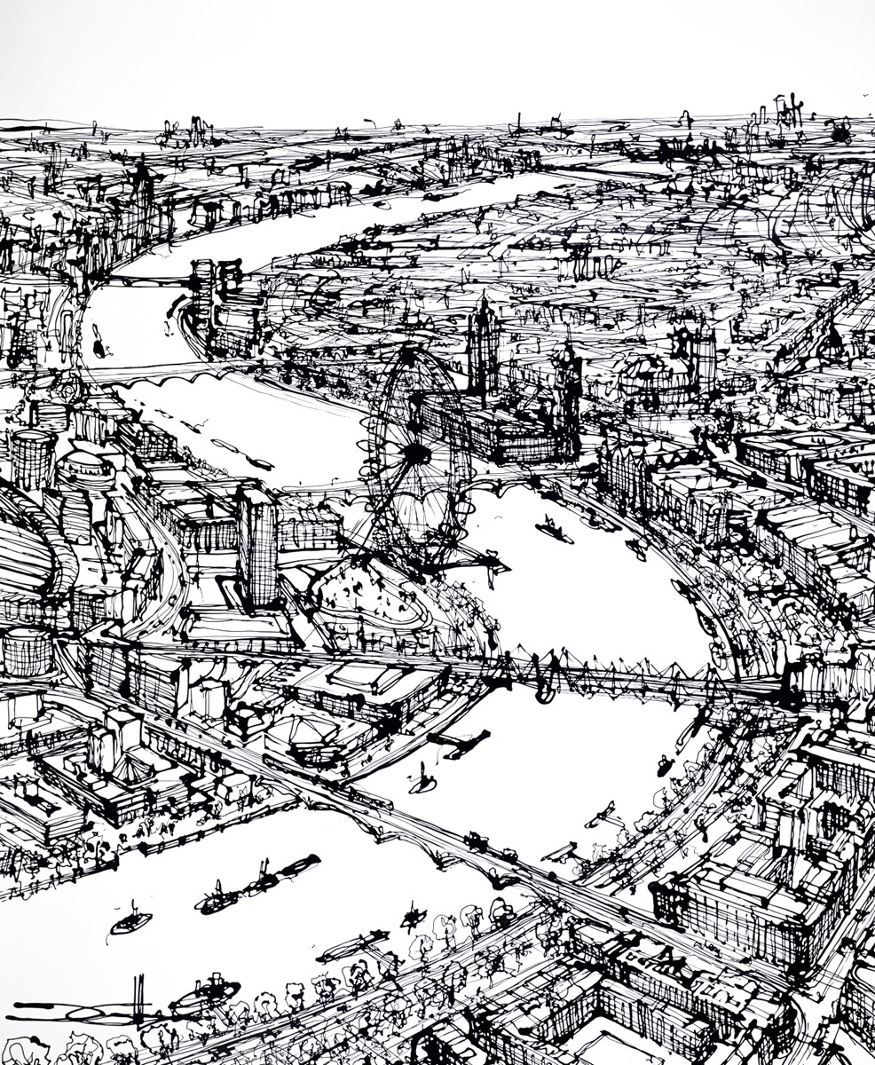 The Thames - A Western Balance by ingo -  sized 47x59 inches. Available from Whitewall Galleries